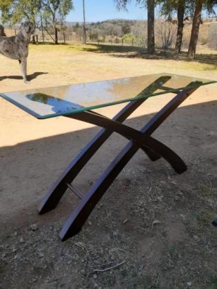 Display Table with Glass Top