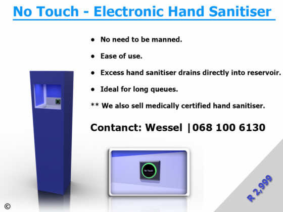 No Touch - Electronic Hand Sanitiser