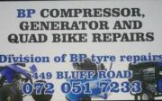 BP compressor, generator and quad bike repairs