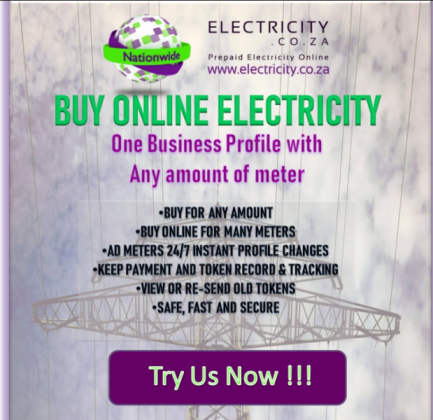 Buy Your Next Prepaid Online Electricity with Us in Pretoria, Gauteng