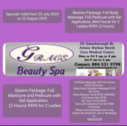 Grace Beauty Spa in Durban, KwaZulu-Natal