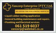 Liquid rubber roofing application and general building maintenance