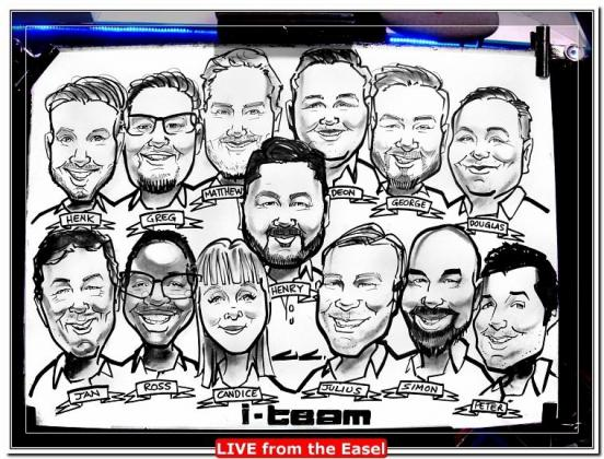 3 minute Portrait Sketches at Events and Weddings - Live Entertainment by Caricature Artist.