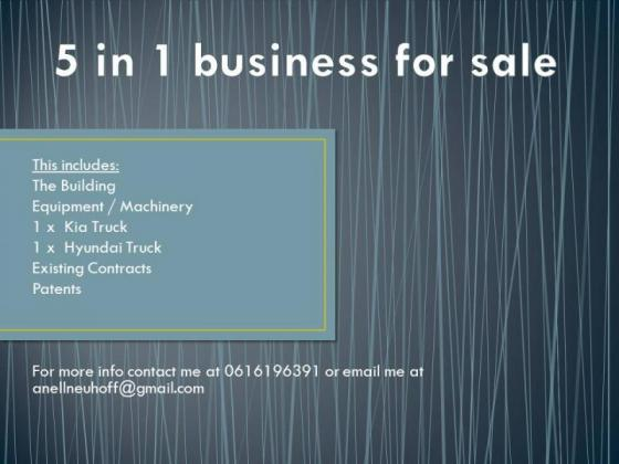 5 in 1 Business for sale in Klerksdorp, North West