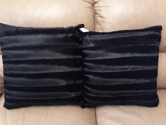 Black Velvet feel Cushions in Birch Acres, Gauteng