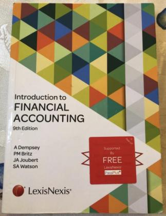 Introduction to FINANCIAL ACCOUNTING in Lenasia, Gauteng