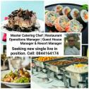 Executive Head Chef, Catering Master Chef, Restaurant Manager and Resort Manager seeking a new posit