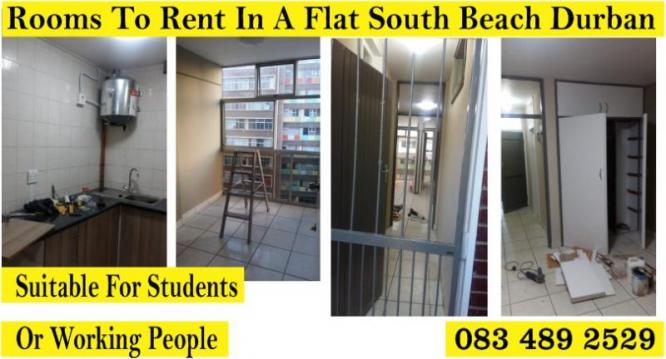 ROOMS IN A FLAT TO RENT IN SOUTH BEACH DURBAN 0742991348 in Durban, KwaZulu-Natal