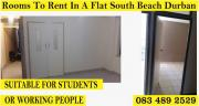 ROOMS IN A FLAT TO RENT IN SOUTH BEACH DURBAN 0742991348