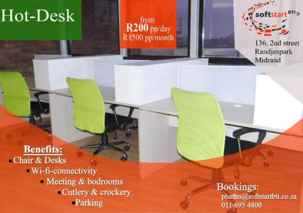 Affordable Office Space for Start-Ups in Midrand, Gauteng