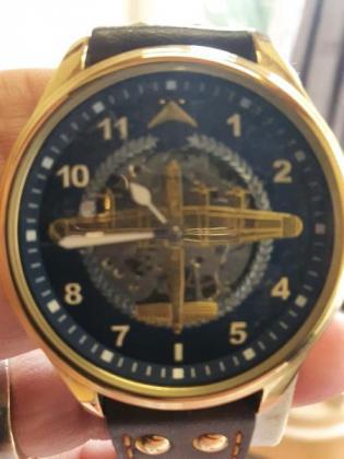 DAMBUSTERS' LANCASTER AIRCRAFT BOMBER 22CT ROSE GOLD PLATED MECHANICAL WATCH in Benoni, Gauteng