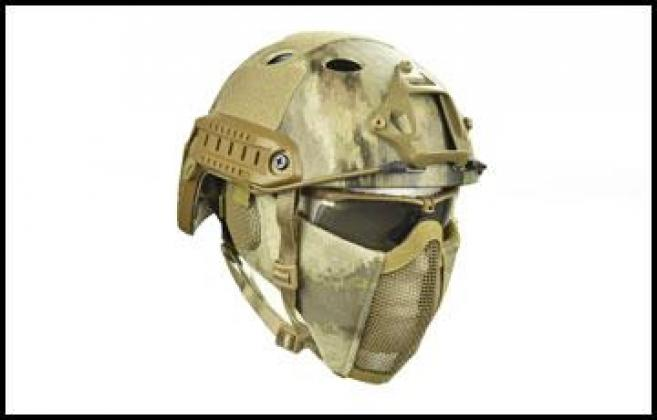 PJ4G6 Tactical Fast Helmet and Face Mask