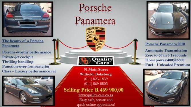 Porsche Panamera 4PDK 2010 Automatic in Boksburg, Gauteng