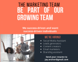 Opportunity Marketing Assistant opening in Umhlanga
