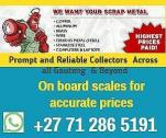 WE BUY AND COLLECT SCRAP METAL