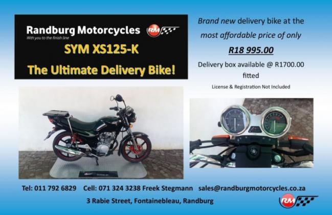 New SYM XS 125cc K Delivery Bike