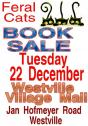 BOOK  SALE  for Feral Cats Tuesday 22 Dec Westville Villlage Mall