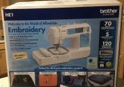 BROTHER HE1 Computerized Embroidery Machine