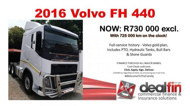 2016 Volvo FH 440 with 725 000Km on the clock. in Centurion, Gauteng