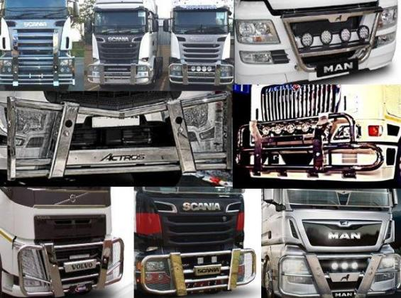 Stainless Steel  and Black Stainless steel Truck Bull Bar for Sale - Easy fitment DIY