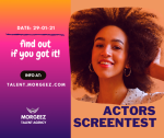 Screentest for Actors and TV Presenters