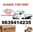 Furniture removals and Rubble removals Bakkie for hire