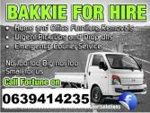 Rubble removals / Bakkie for hire / furniture removals..