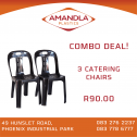 Catering Chairs. 3 for R90