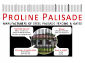 Steel Palisade Fencing, Gates and Paint Manufacturers