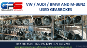 VW / AUDI / BMW AND M-BENZ USED GEARBOXES FOR SALE