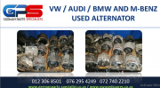 VW / AUDI / BMW AND M/BENZ USED ALTERNATORS FOR SALE