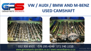 VW / AUDI / BMW AND M/BENZ USED CAMSHAFT FOR SALE