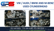VW / AUDI / BMW AND M/BENZ USED CYLINDERHEAD FOR SALE