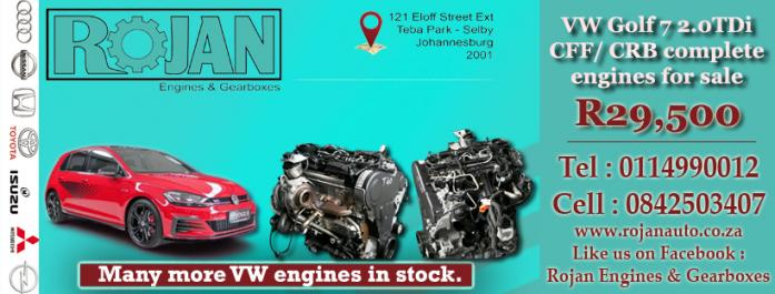 VW Golf engines and gearboxes for sale in Johannesburg, Gauteng