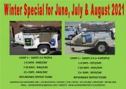 Camper Trailers for Hire | 2-4 Sleeper or 4-6 Sleeper | Strand