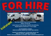 For Hire | Toyota Quantum Panel Van High Roof  | Strand