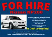 Nissan NP 200 for rent