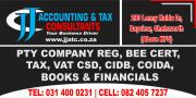 ACCOUNTING AND TAX SERVICES, COMPANY REG, PAYROLL, IMPORT / EXPORT CODE